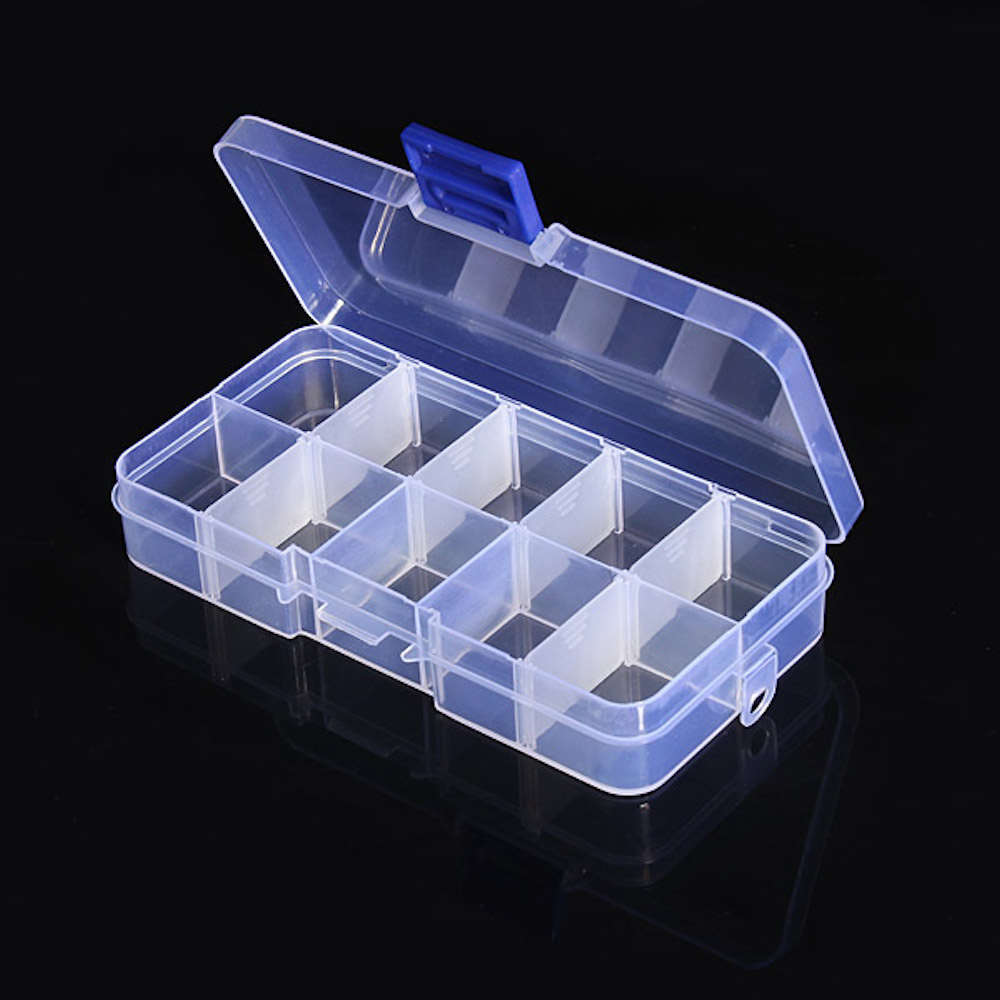 Small Electronic Components Plastic Storage Box With Lid